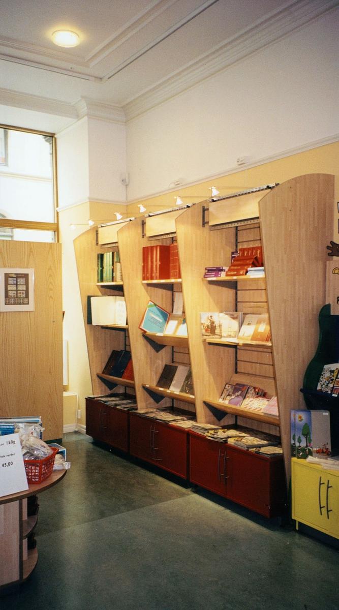 interiør, postmuseet, frimerketjenesten, ny innredning i 1999