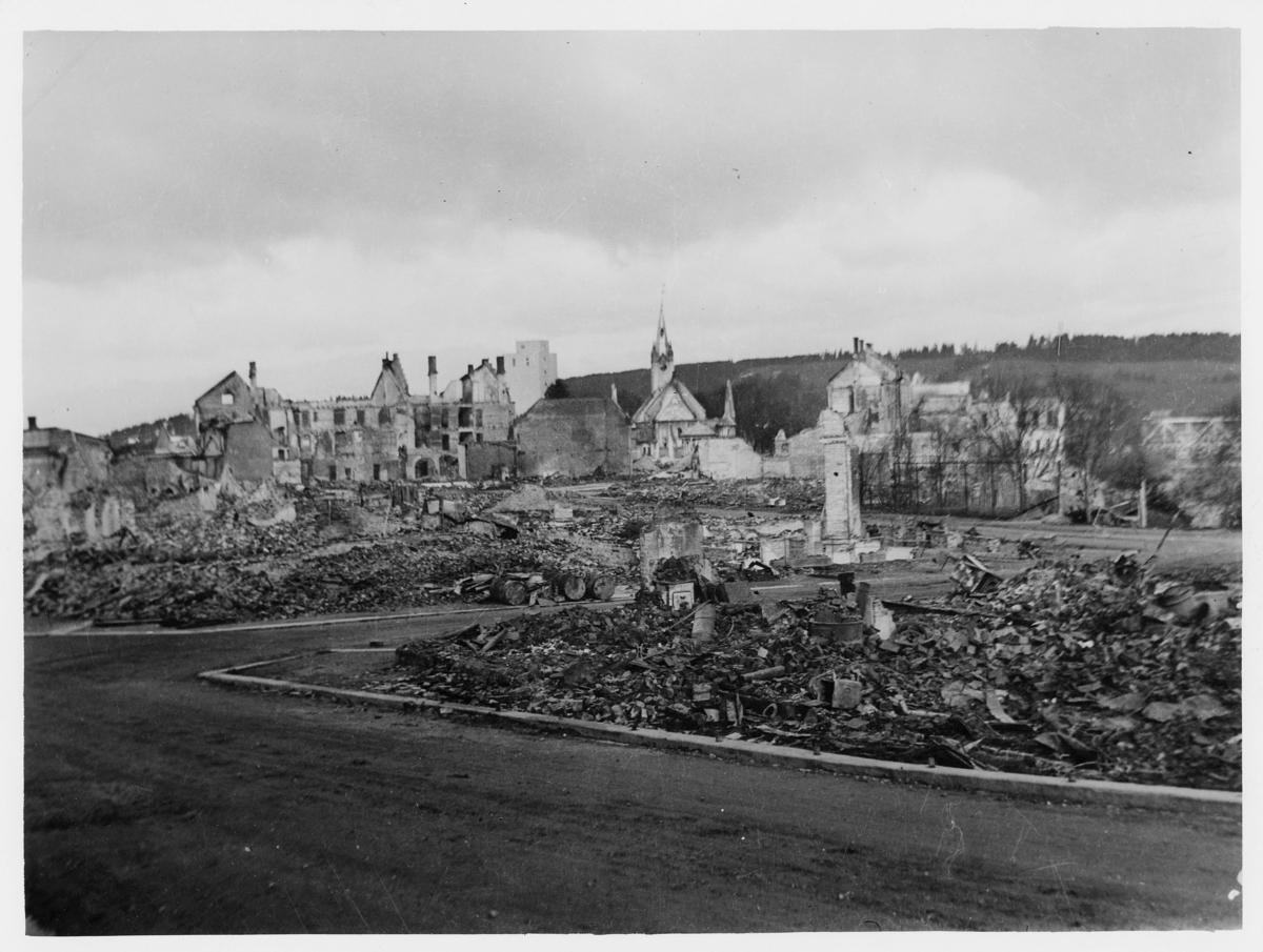 krigen, Steinkjær, ruiner