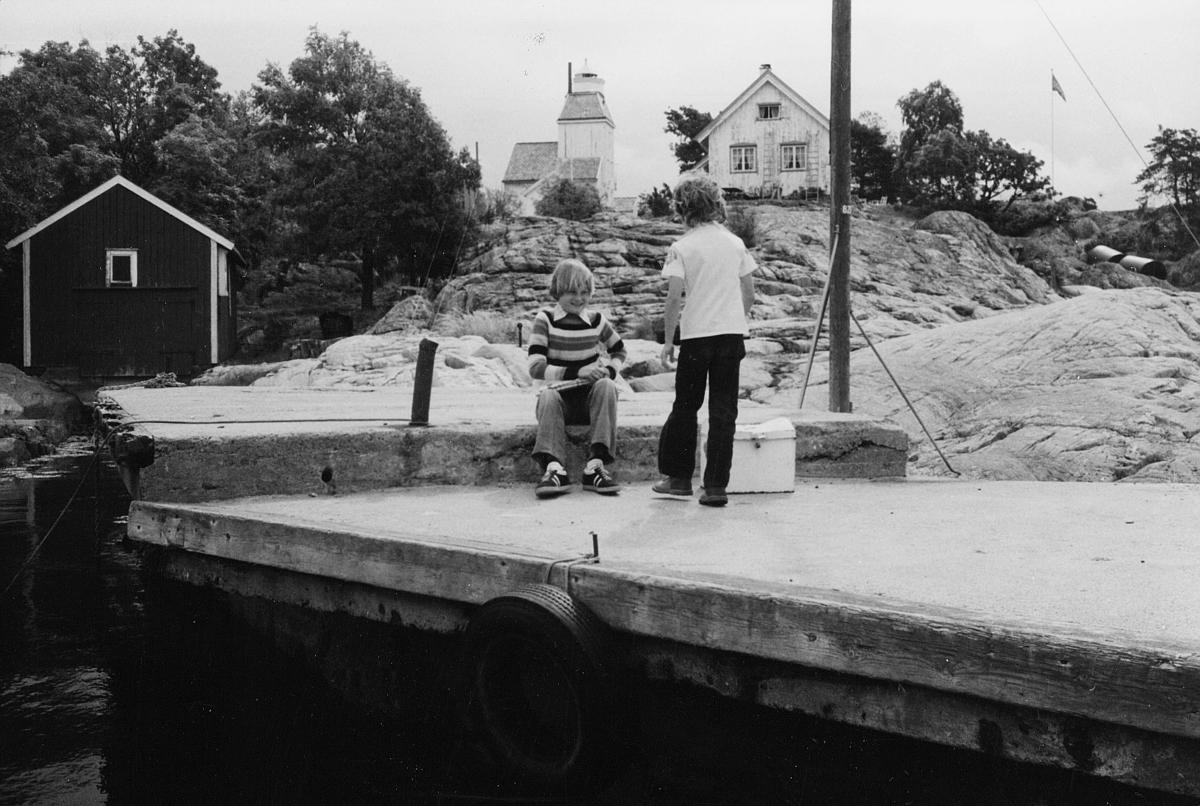 transport, båt, Kragerø, brygge, to gutter