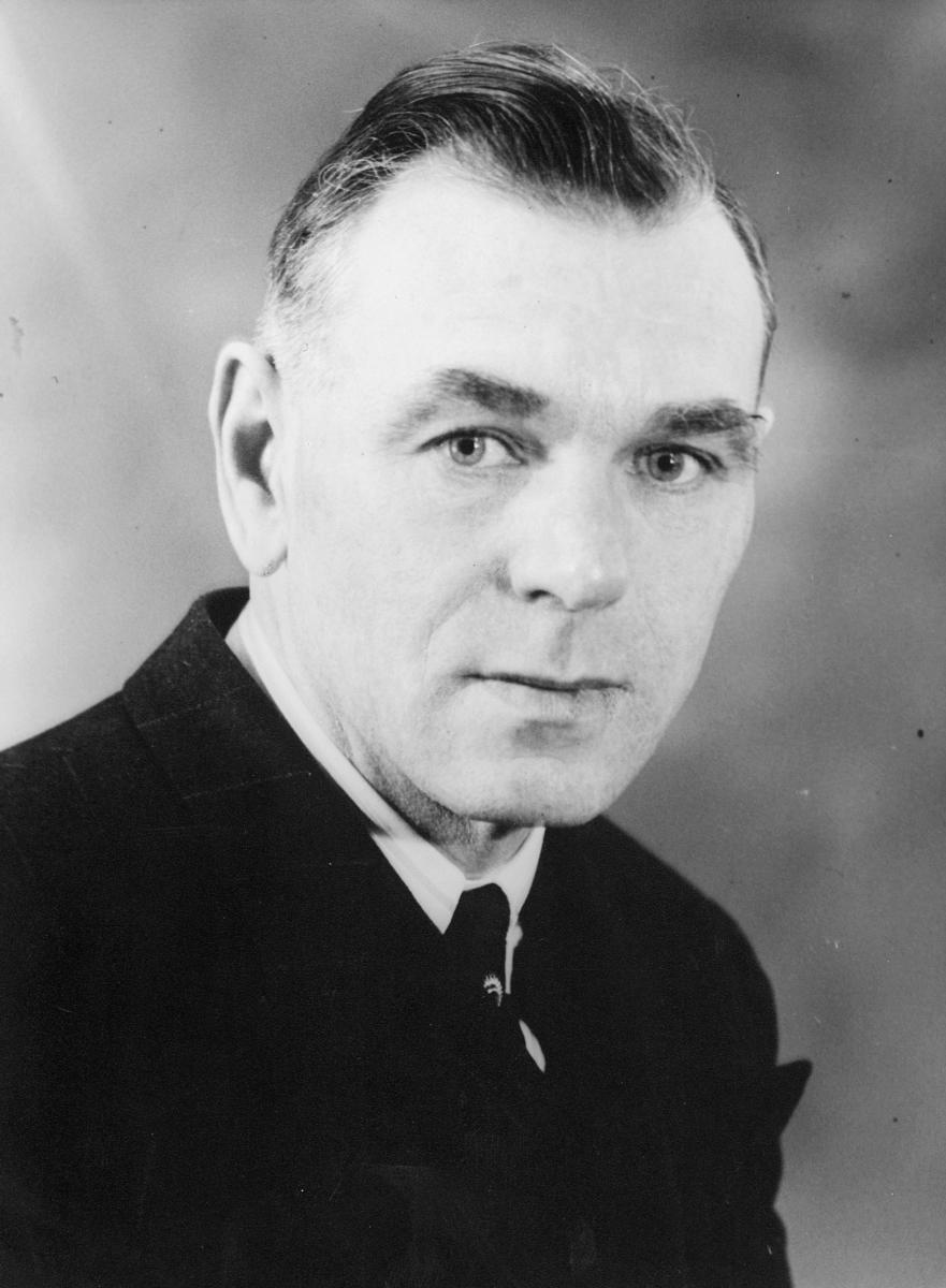 portrett, postmester, Ludolf Andreas Møinich Hauge