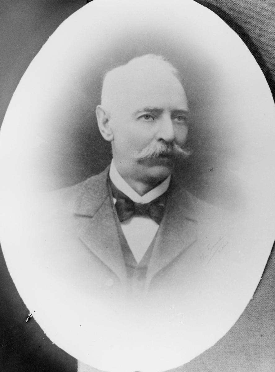 portrett, postmester, Abraham Jacobsen