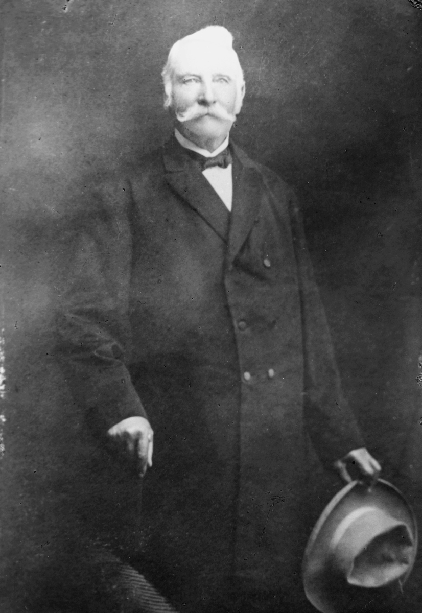portrett, postmester, Sigvard Edvard Ramberg