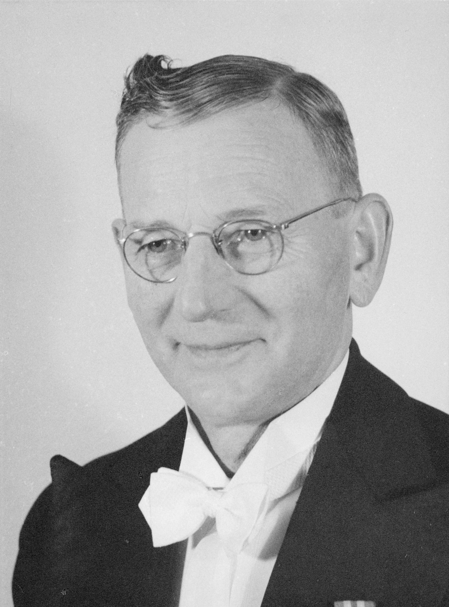 postmester, Jensen Paul Arthur, portrett
