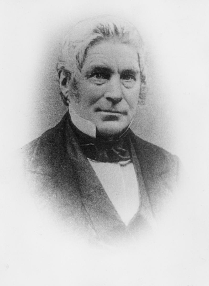 konstituert postmester, Bech Wilhelm, portrett
