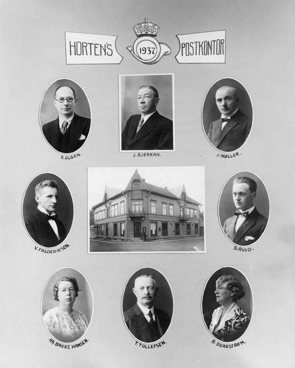 gruppebilde, Horten postkontor 1937