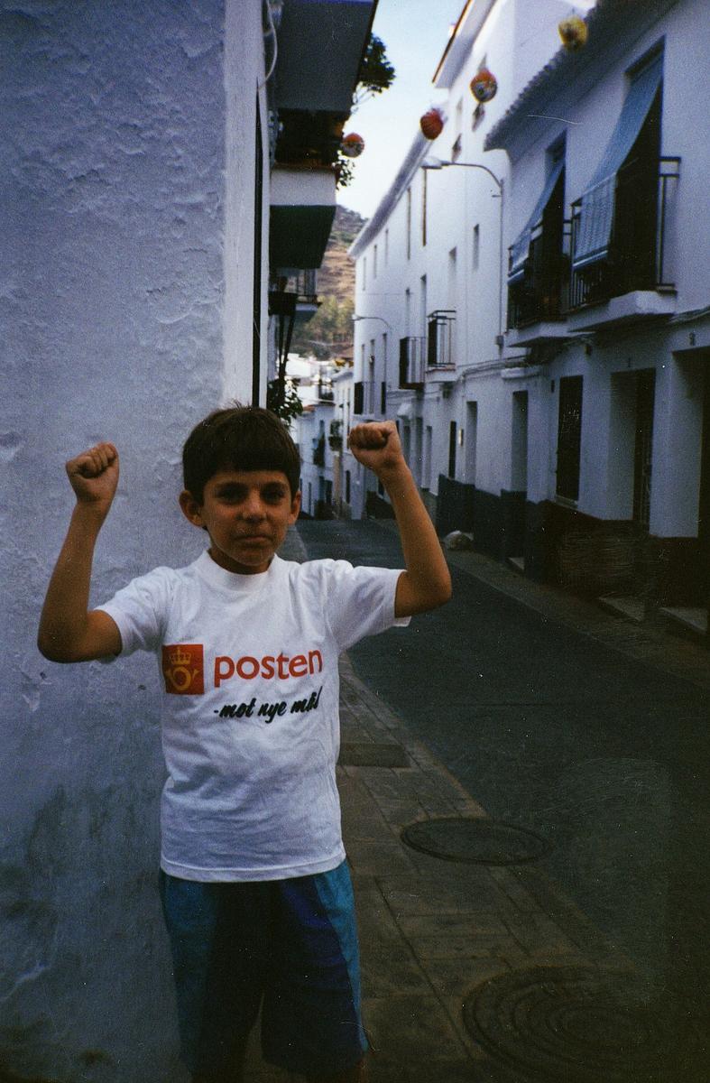markedsføring, reklame, Spania, t-skjorte, gutt