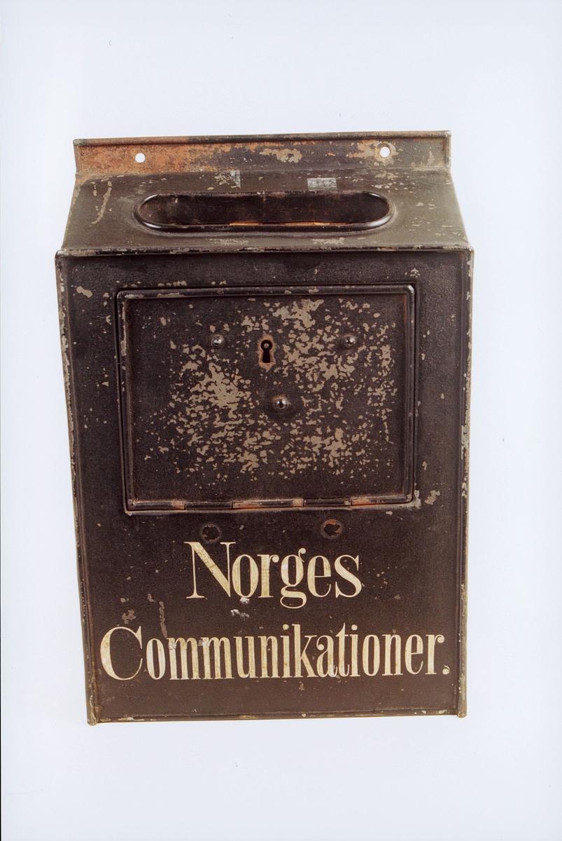 postmuseet, gjenstander, postkasse, Norges Communikationer