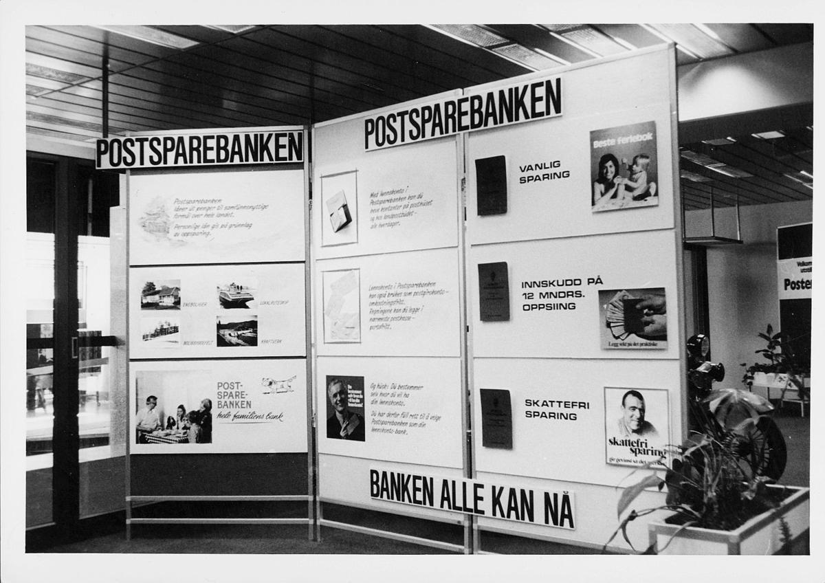 markedsseksjonen, Oslo postgård 50 år, postsparebanken, informasjon