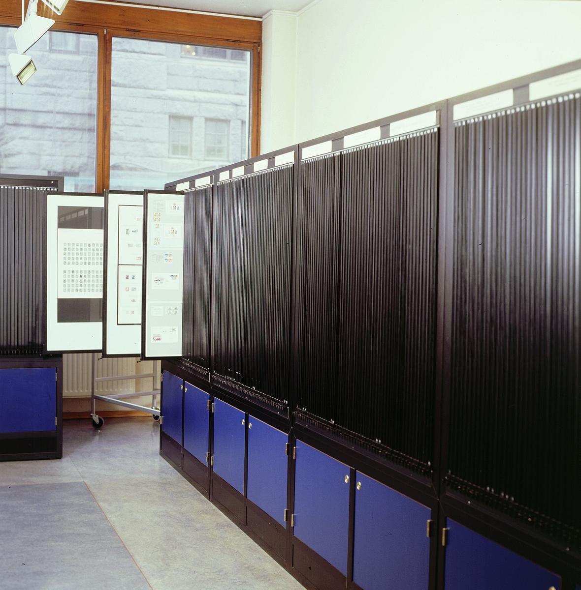 postmuseet, Kirkegata 20, utstilling, frimerkerommet, frimerkerammer