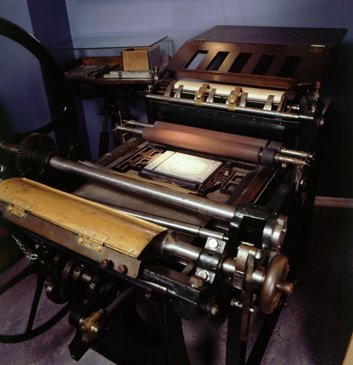 postmuseet, Kirkegata 20, utstilling, frimerkegangen, frimerkepresse