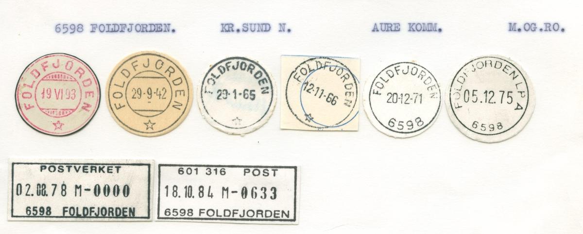Stempelkatalog 6598 Foldfjorden, Aure, Møre og Romsdal