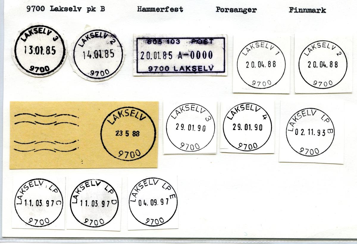 Stempelkatalog 9700 Lakselv (Laxelv, Lakselven), Hammerfest, Finnmark