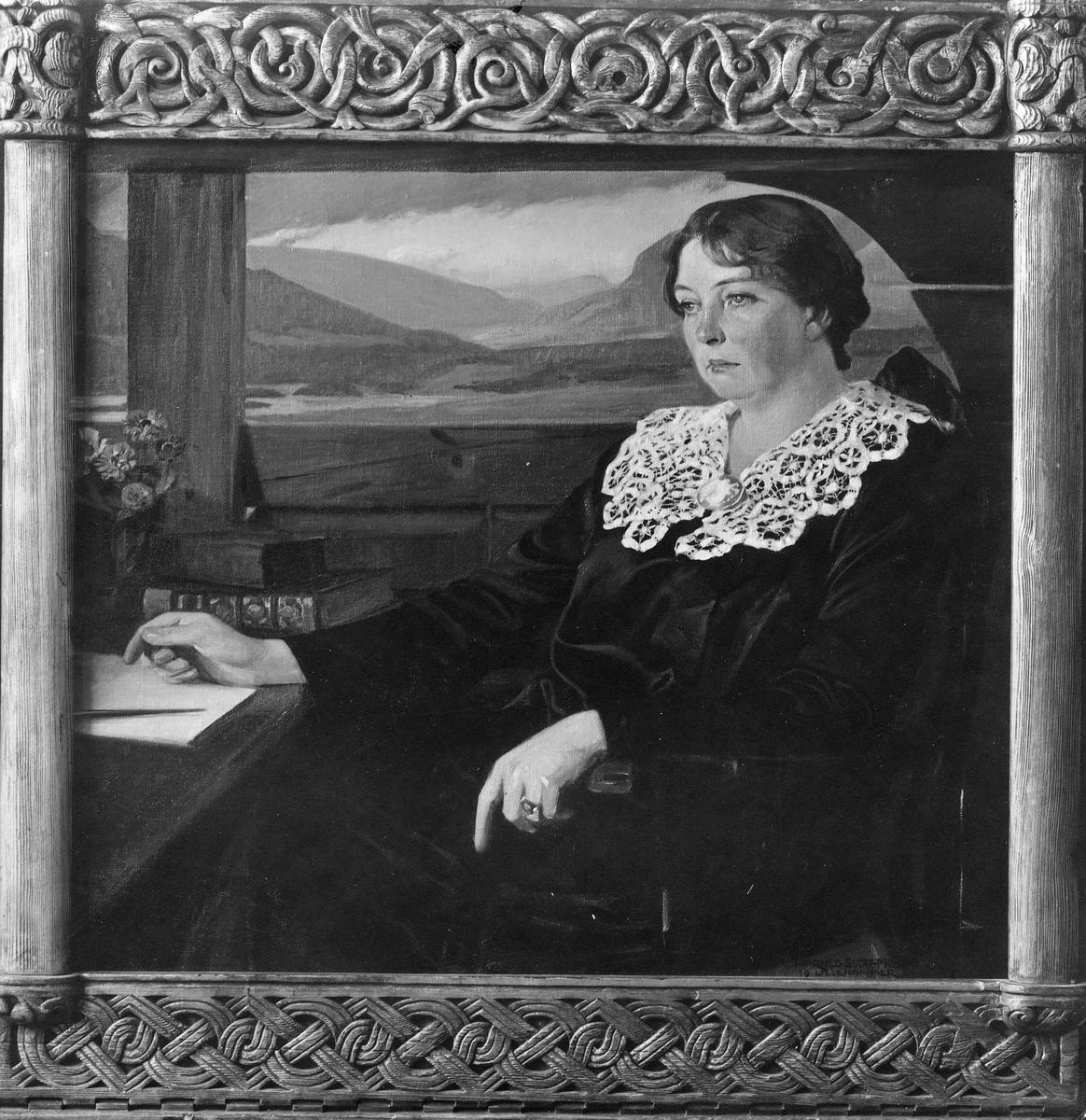 Maleri, kvinne, portrett