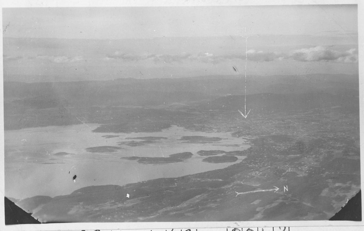Luftfoto av Oslo og omegn.