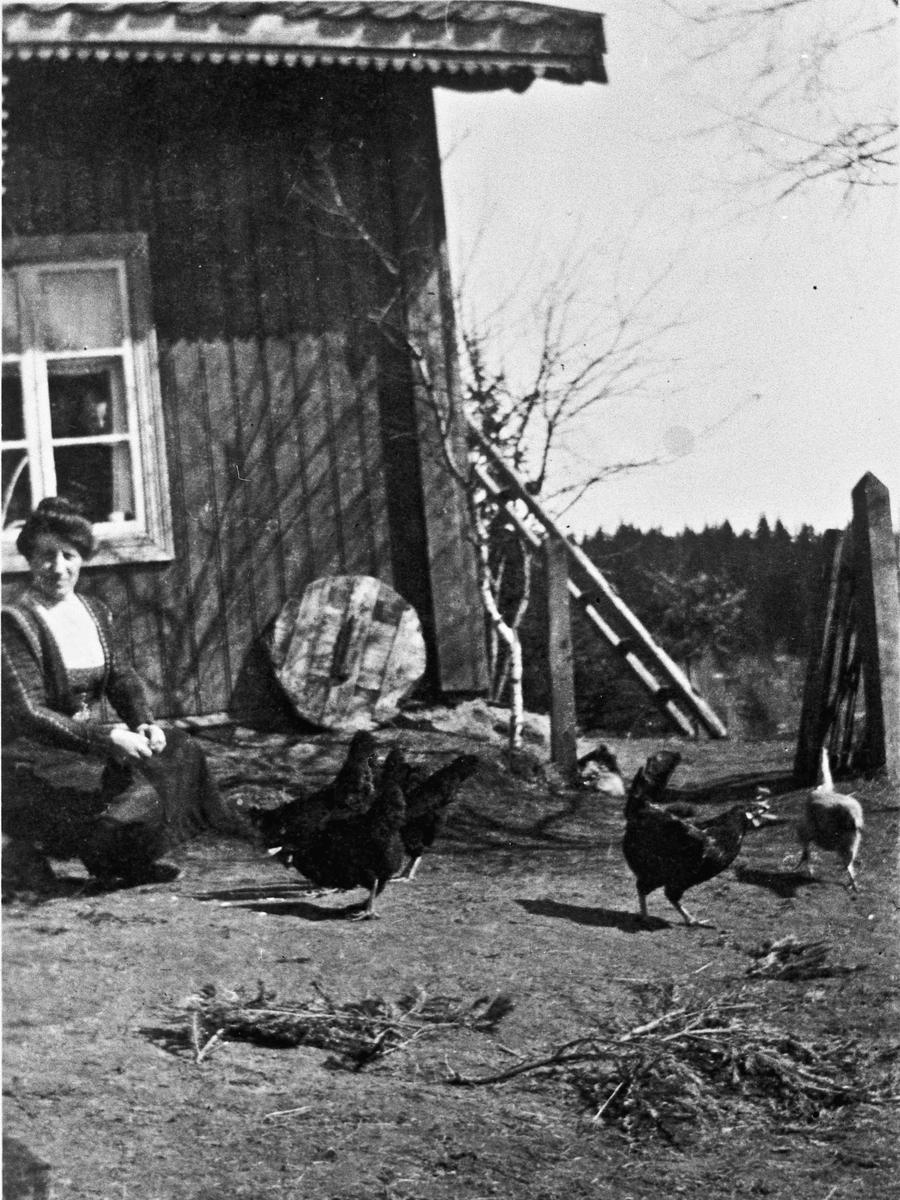 Elstaholen. Marthe Johnsen, Gustav og Olaf S.