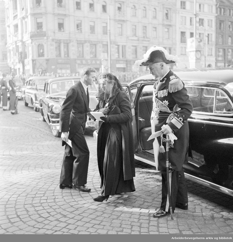 Kong Haakon VIIs gravferd,.oktober 1957