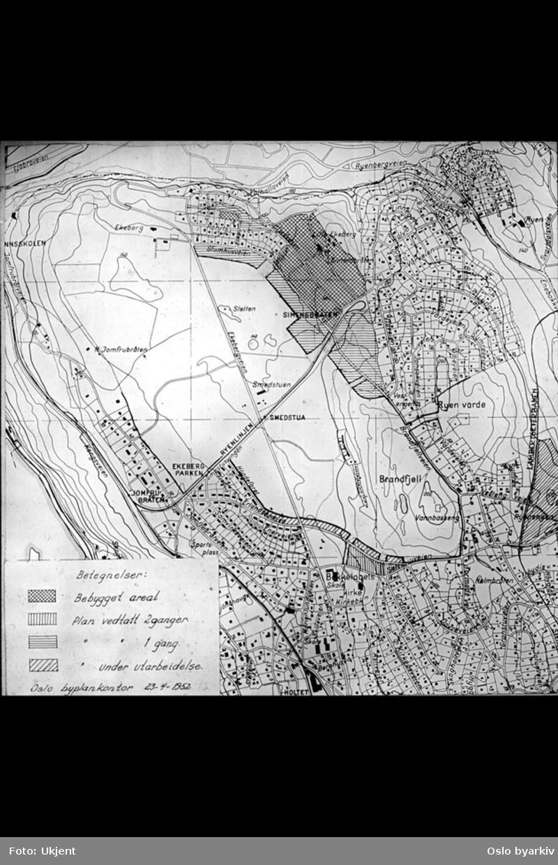 kart over ekebergsletta Ekebergsletta m. omgivelser   Oslo byarkiv / DigitaltMuseum kart over ekebergsletta