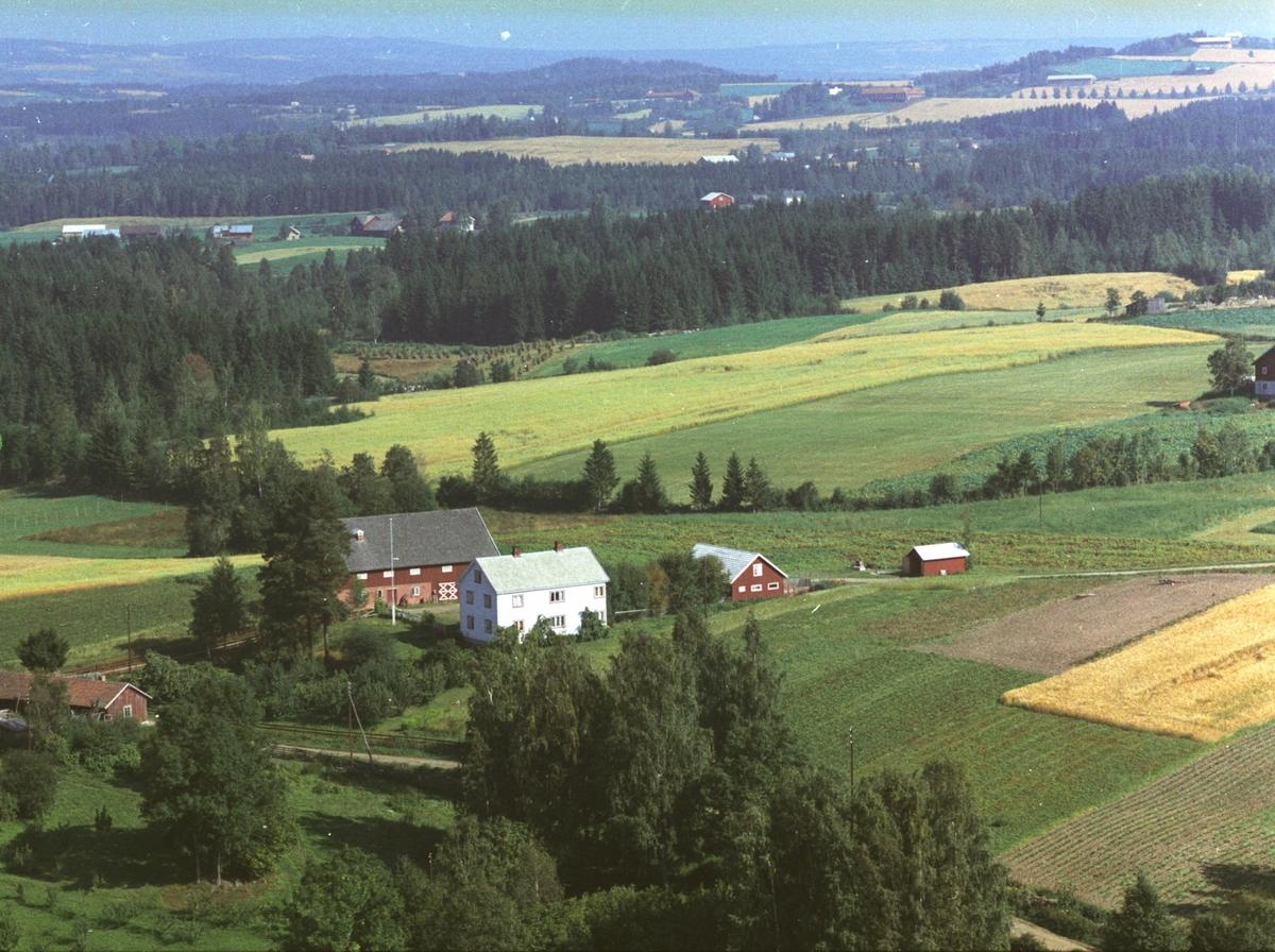 Flyfoto av Haug gård, Gaupen, Hedmark.