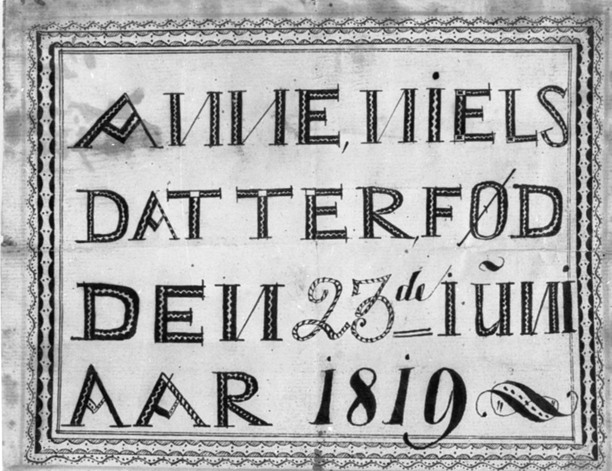 NAVNEPLATE: ANNE NIELSDATTER, FØDT DEN 23. JUNI 1819