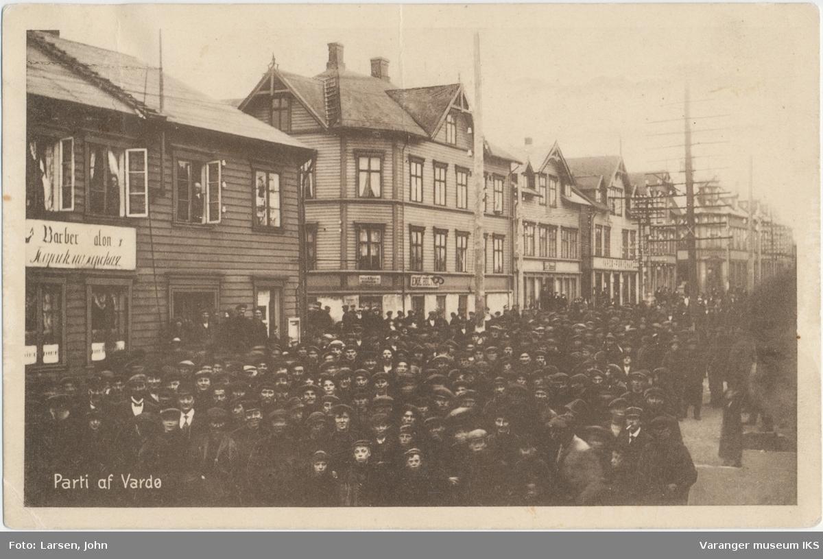 Postkort, demonstrasjonstog, 1912