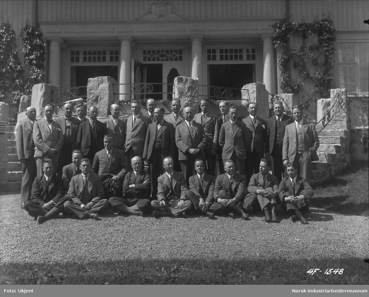 Finske landbrukskonsulenter, besök på Rjukan i juni 1935.