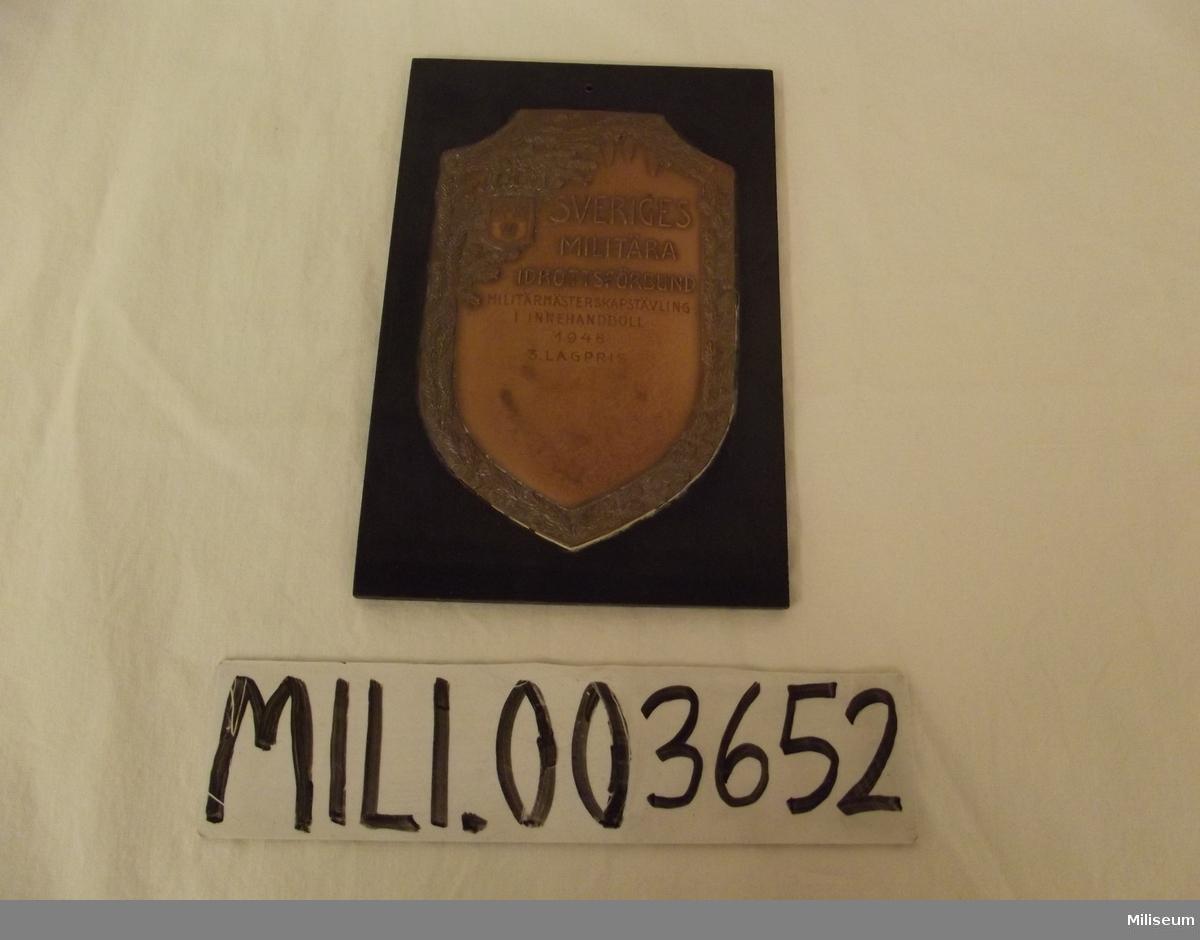 Sköld, Sveriges Militära Idrottsförbunds 3 Lagpris i Innehandboll 1948