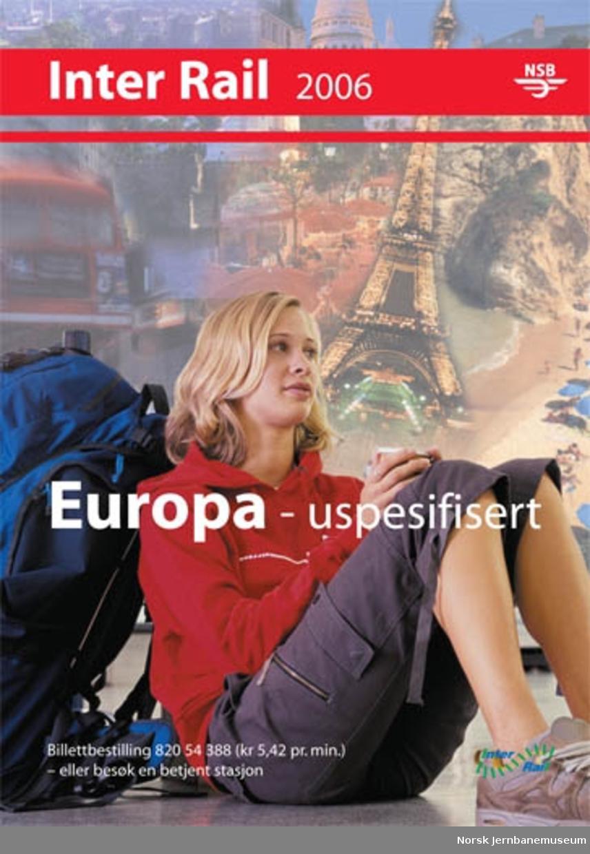 Plakat : Interrail 2006 - Europa uspesifisert