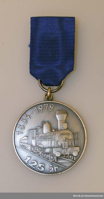 Medalje - fra jernbanens 125 års-jubileum