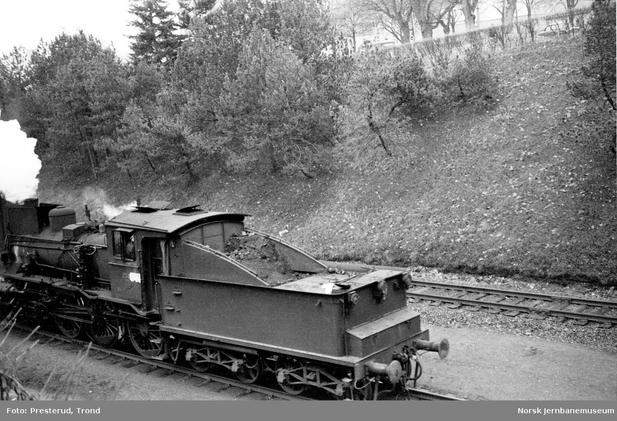 Damplokomotiv type 27a nr. 234 ved Skansen, underveis fra Marienborg til Trondheim st.