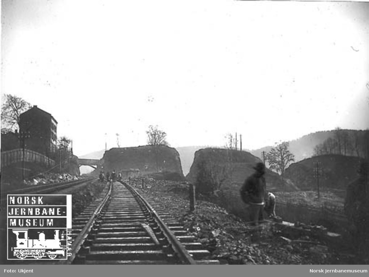 Fra dobbeltsporanlegget mellom Oslo og Bryn
