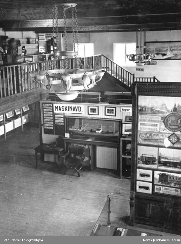 Jernbanemuseet på Disen : Maskinavdelingens utstilling