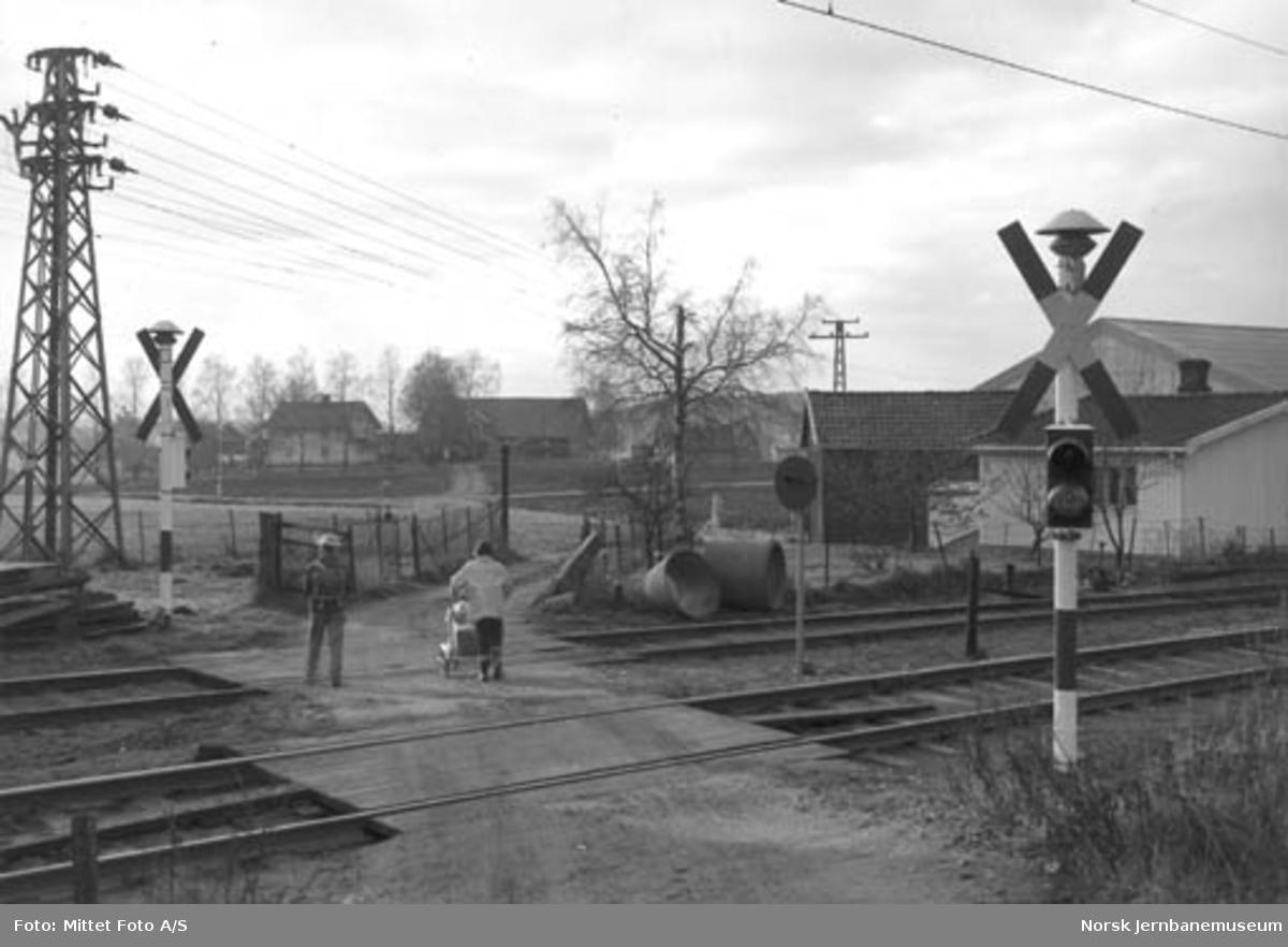 Tornerud planovergang på Østfoldbanen, Østre linje, km 28,31