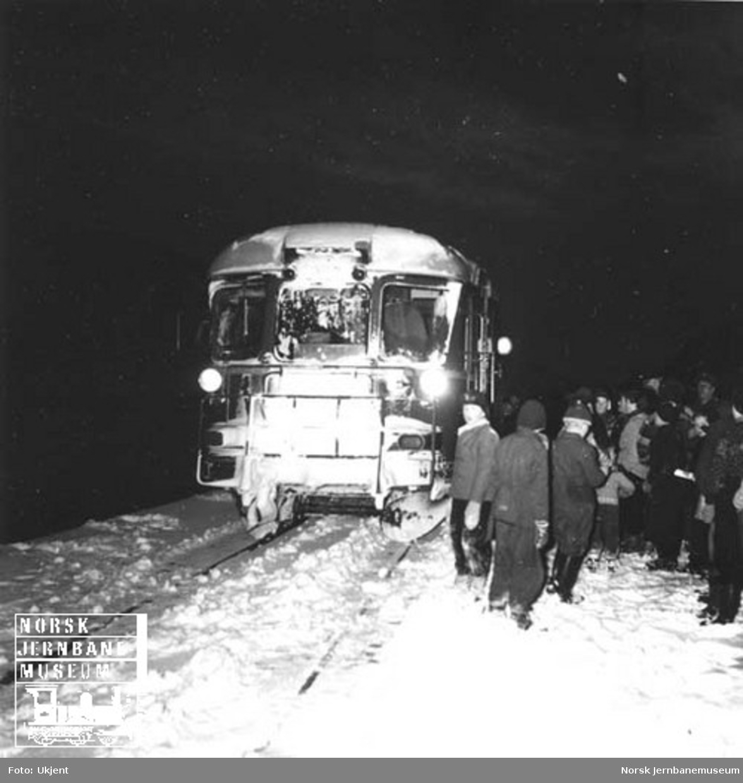 Nordlandsbanens åpning til Røkland (Saltdal) : befaring med motorvogn