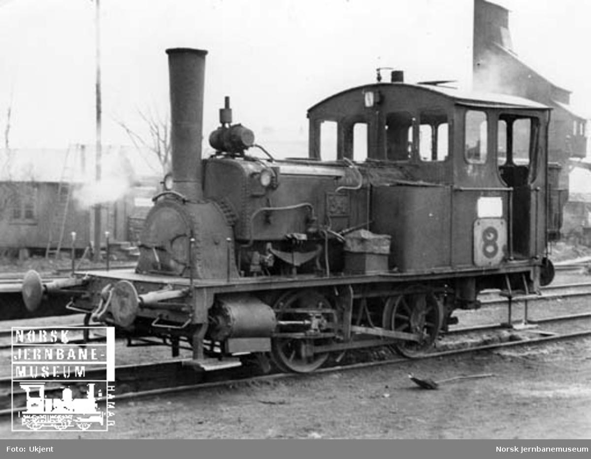 NSB damplokomotiv type 7a nr. 34 på Oslo Ø