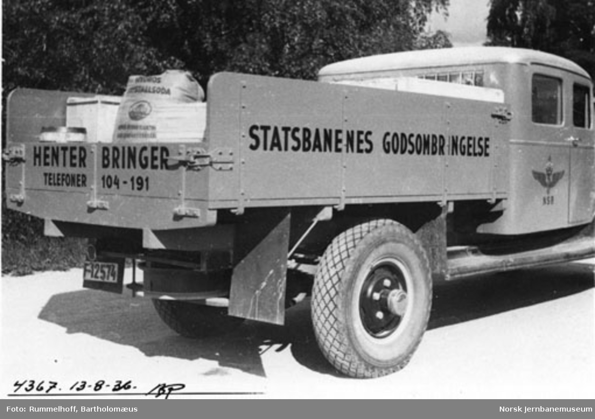 NSB lastebil for godsombringelse