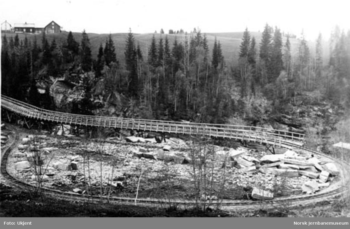 Grana bru : transportspor fra Kjærringgrubba steinbrudd