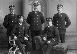 Klassebilde av første konduktørkurs ved Jernbaneskolen - 191
