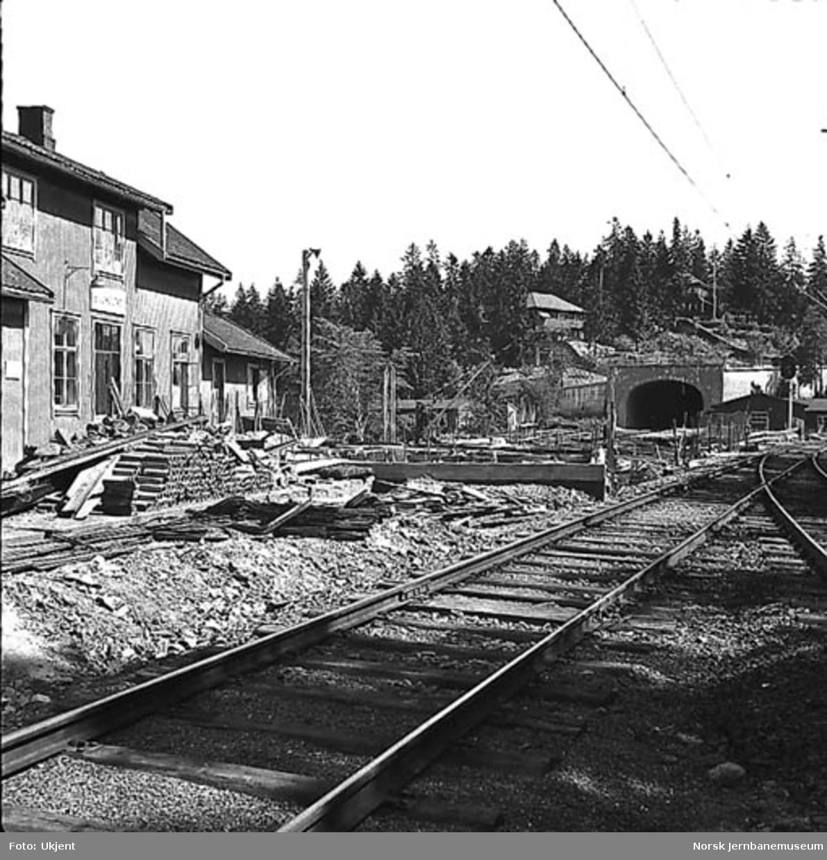Ombyggingsarbeider på Billingstad stasjon