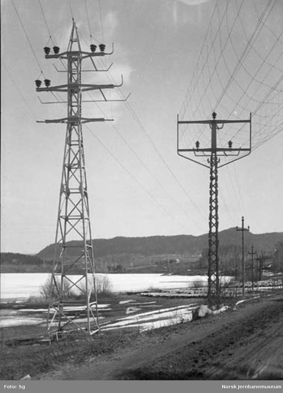 Drammenbanens elektrifisering : Drammen E-verks ledninger