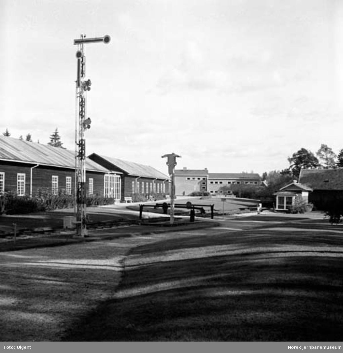 Semafor-hovedsignalet på Norsk Jernbanemuseum
