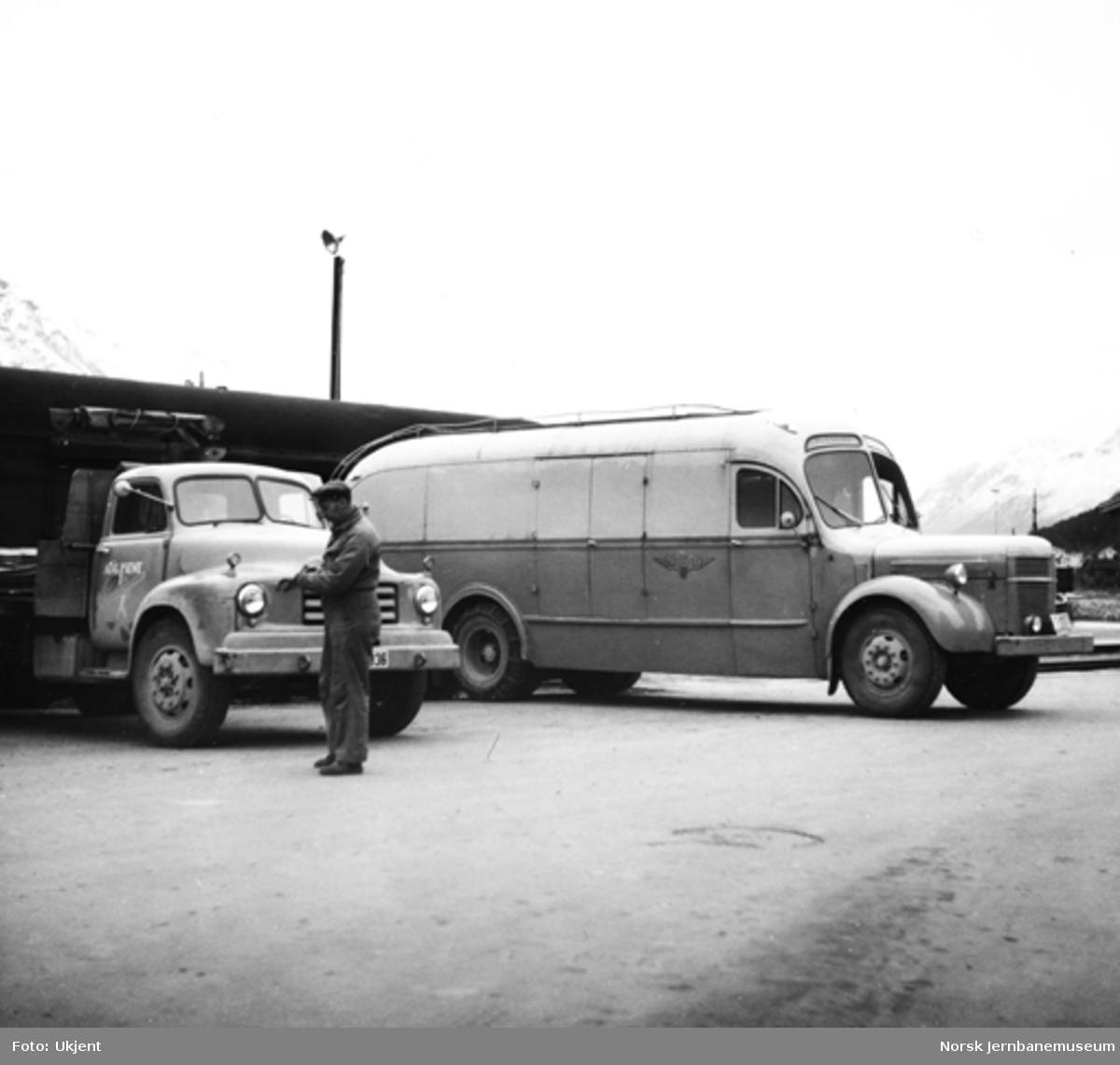 NSB godsbil fra Ålesundruten