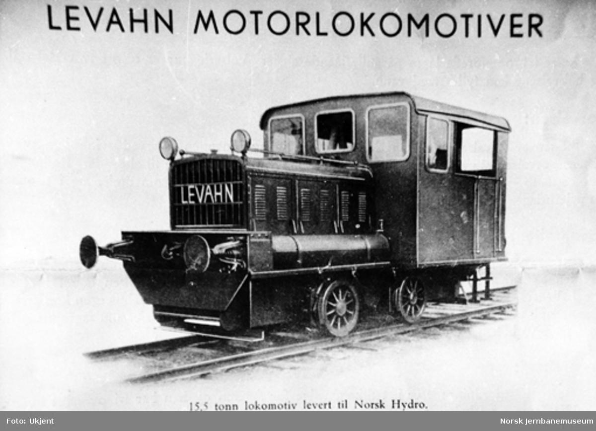 Levahn bensin-lokomotiv til Norsk Hydro