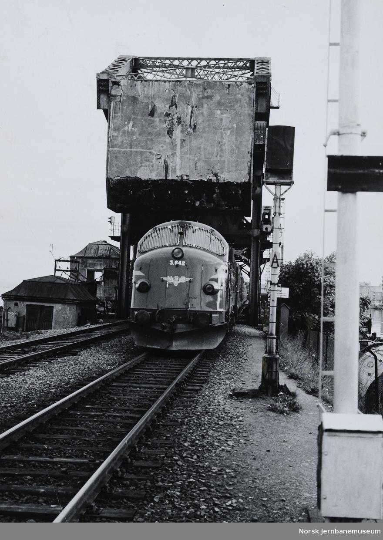 Skansen bru med passerende tog