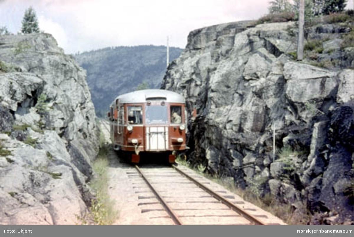 Motorvogn type 87b nr. 87.80, på Treungenbanen