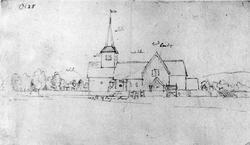 Vestre Moland kirke ant. (196),  Lillesand,  Aust-Agder. Bly