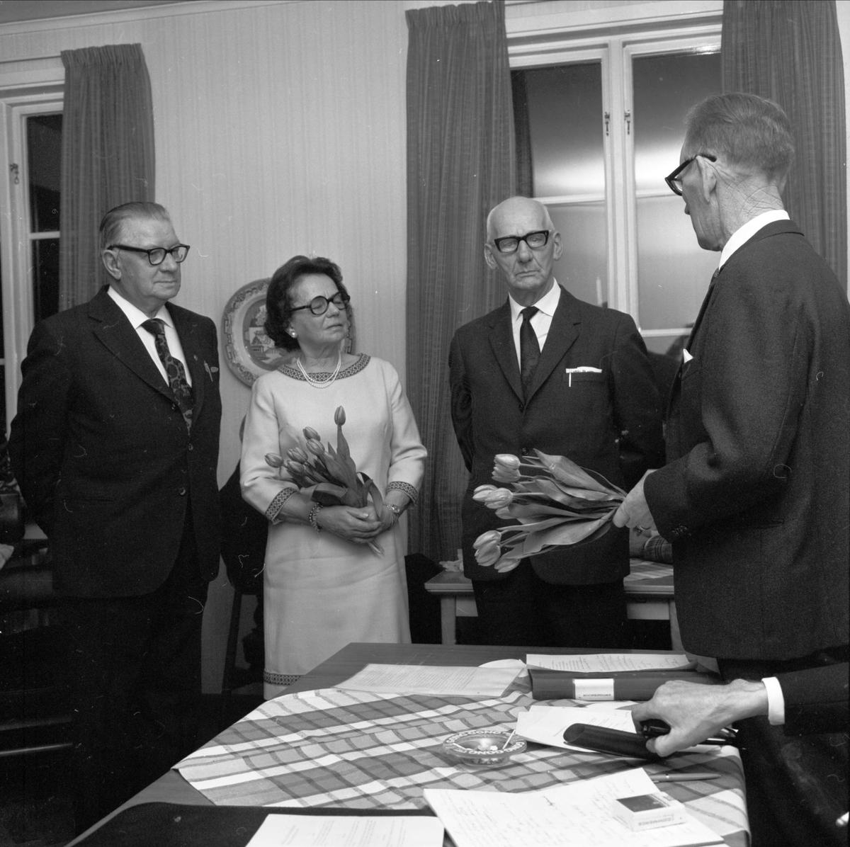 Uppvaktning - Söderfors hembygdsförening, Uppland 1973