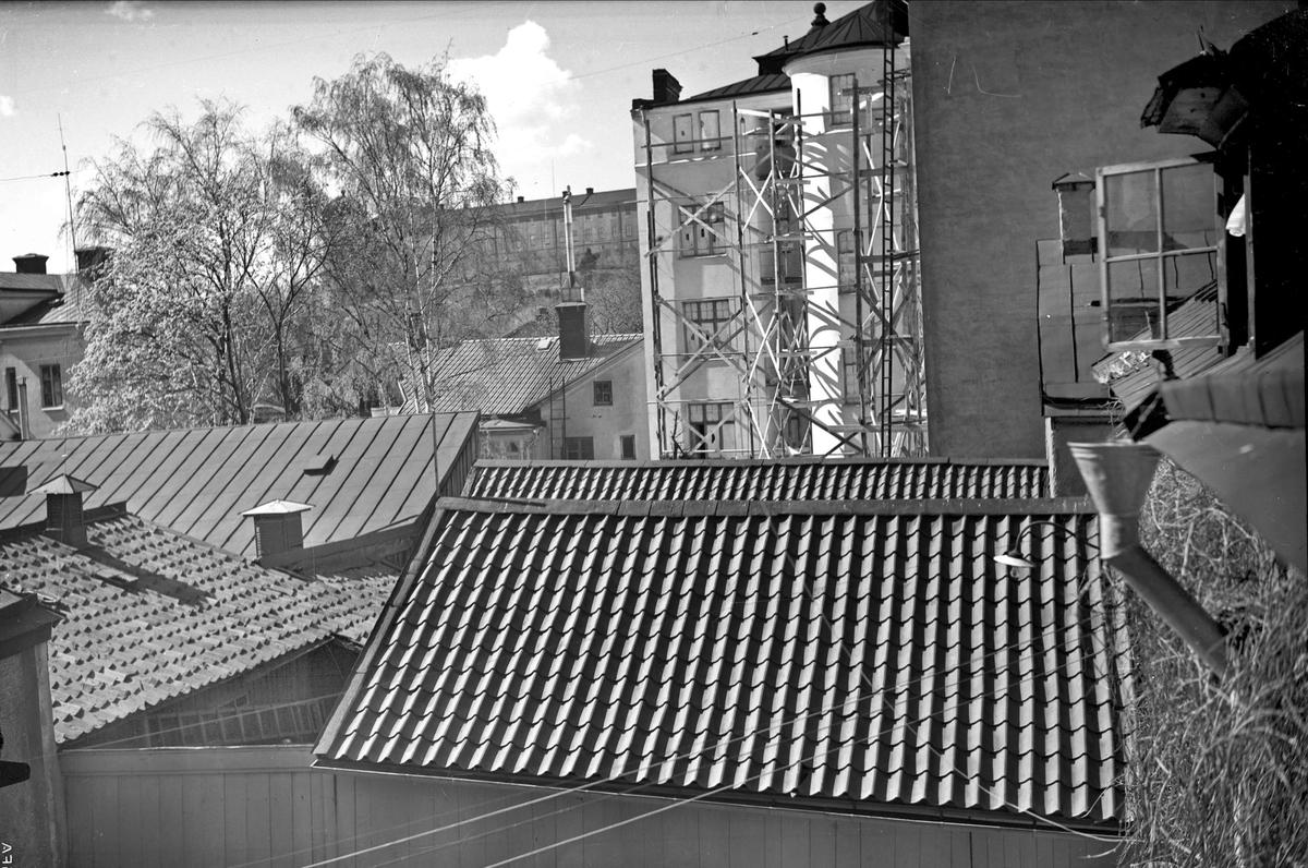 Stadsbebyggelse, sannolikt i kvarteret Trädgården, Uppsala