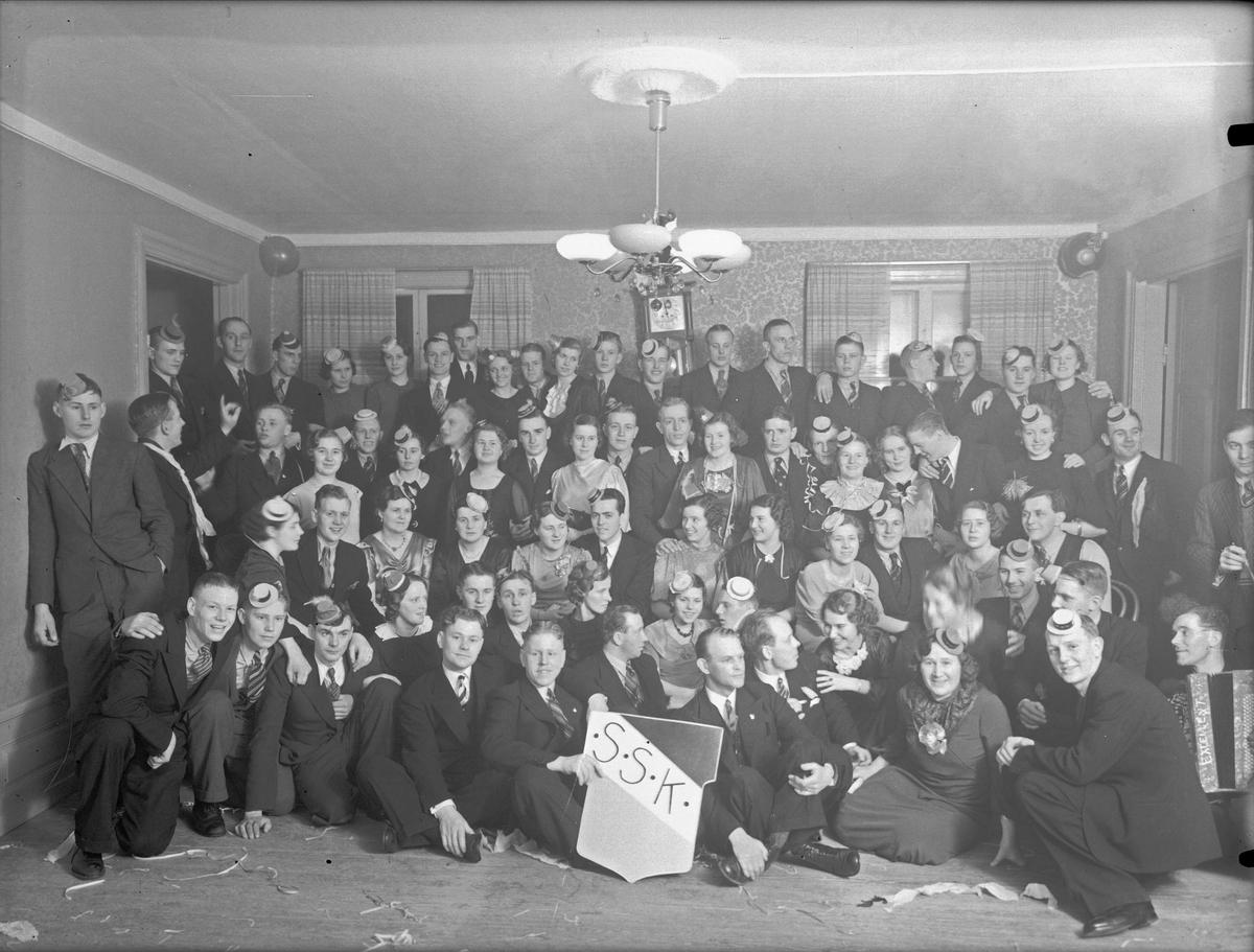 Grupporträtt - Svartbäckens Sportklubb, SSK, Uppsala 1936