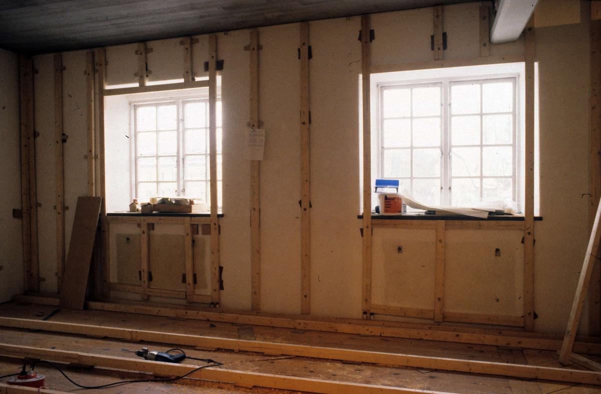 Utställningen Vårt Uppsala på Upplandsmuseet, Uppsala under byggnation 1986