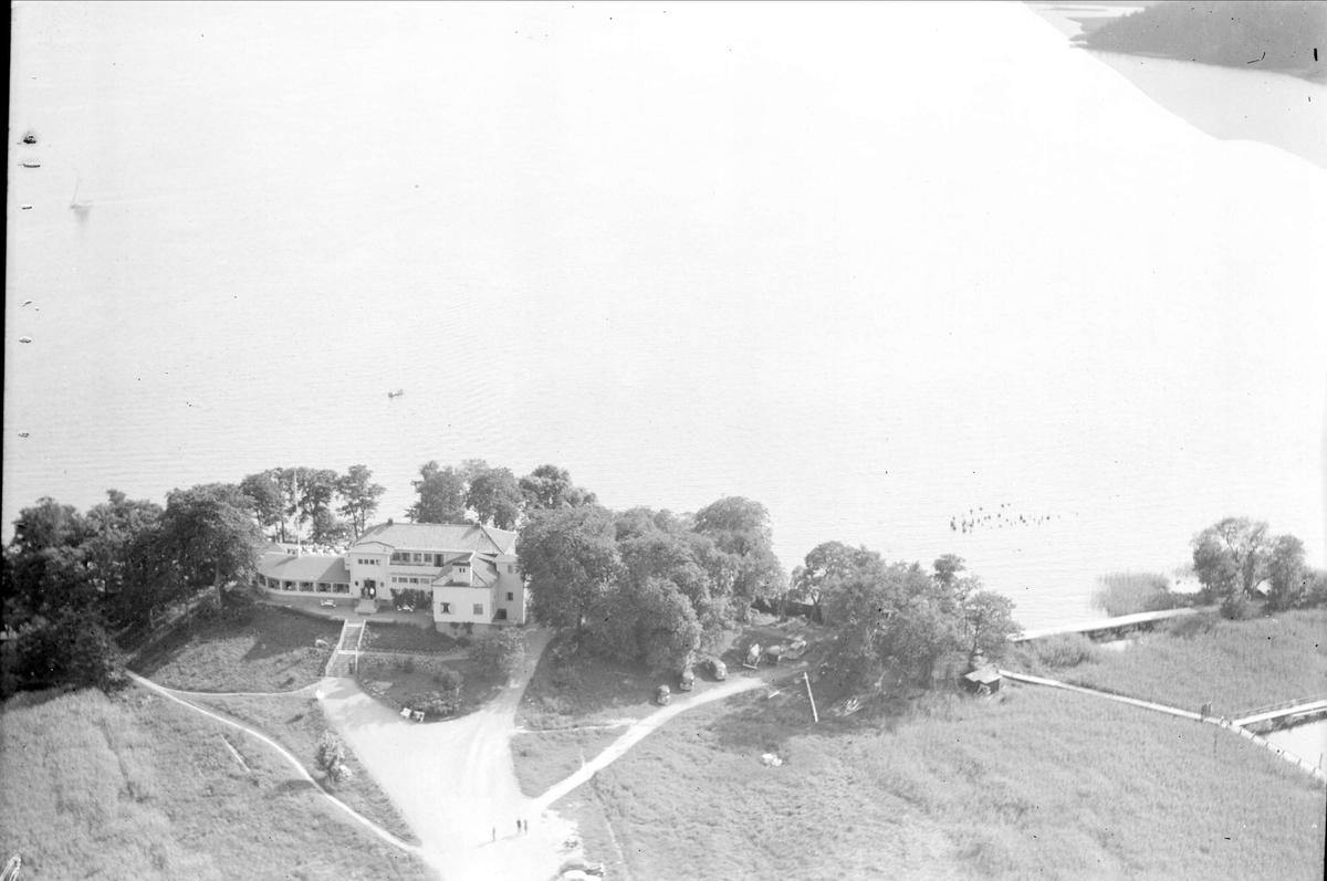 Flygfoto över Skarholmen, Sunnersta, Uppsala 1938